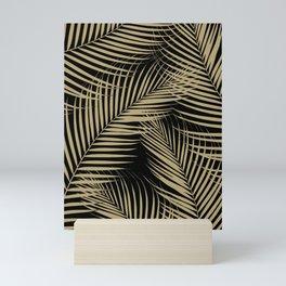 Palm Leaves - Gold Cali Vibes #2 #tropical #decor #art #society6 Mini Art Print
