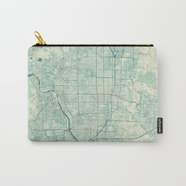 Kyoto Map Blue Vintage Carry-All Pouch