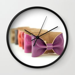 Bows on Bows on Bows Wall Clock
