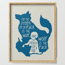 Strength of the Pack - Wolf and Child Serving Tray
