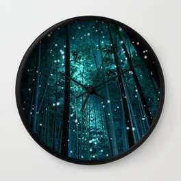 Night in Bamboo Wall Clock