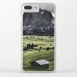 seiser alm landscape Clear iPhone Case