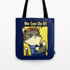 Purrsist! We Can Do It! Tote Bag