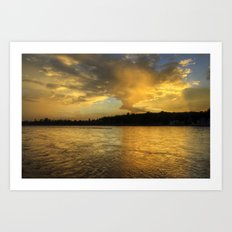 when the light turns to gold... Art Print