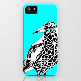 Minty Magpie iPhone Case