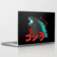 kaiju Laptop & iPad Skins featuring Mighty Kaiju Gojira by pigboom el crapo