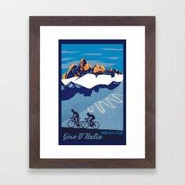 Giro d'Italia Passo Dello Stelvio cycling poster Framed Art Print