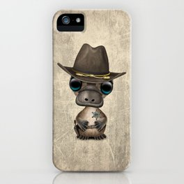 Cute Baby Platypus Sheriff iPhone Case