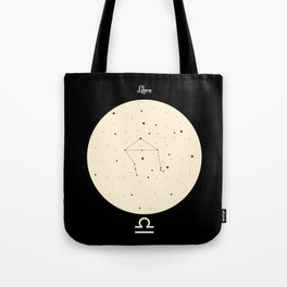 Libra - Black Tote Bag