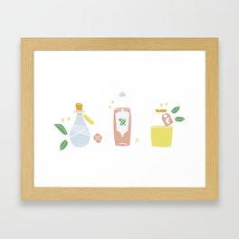 Cute bottles, pastel magic potion Framed Art Print