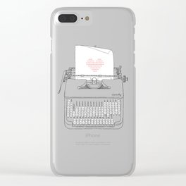 The Chemistry of Love Clear iPhone Case