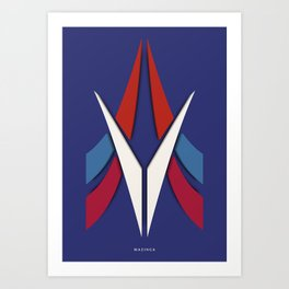 Symmetry: Mazinga Art Print