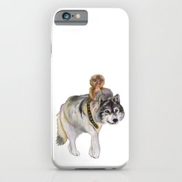 Pygmy marmoset and Wolf iPhone Case