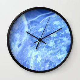 electric blue meme Wall Clock