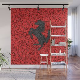 Red Homage to Ferrari Wall Mural