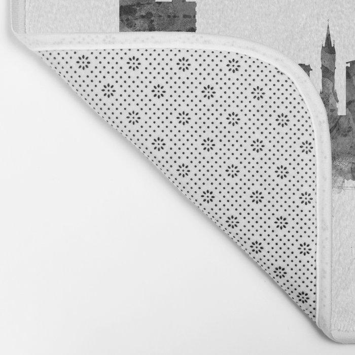 Leicester England Skyline Bath Mat