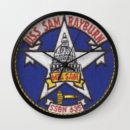 USS SAM RAYBURN (SSBN-635) PATCH Wall Clock