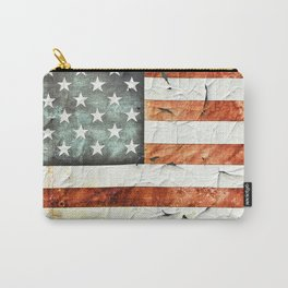 Painted Stars And Stripes Carry-All Pouch