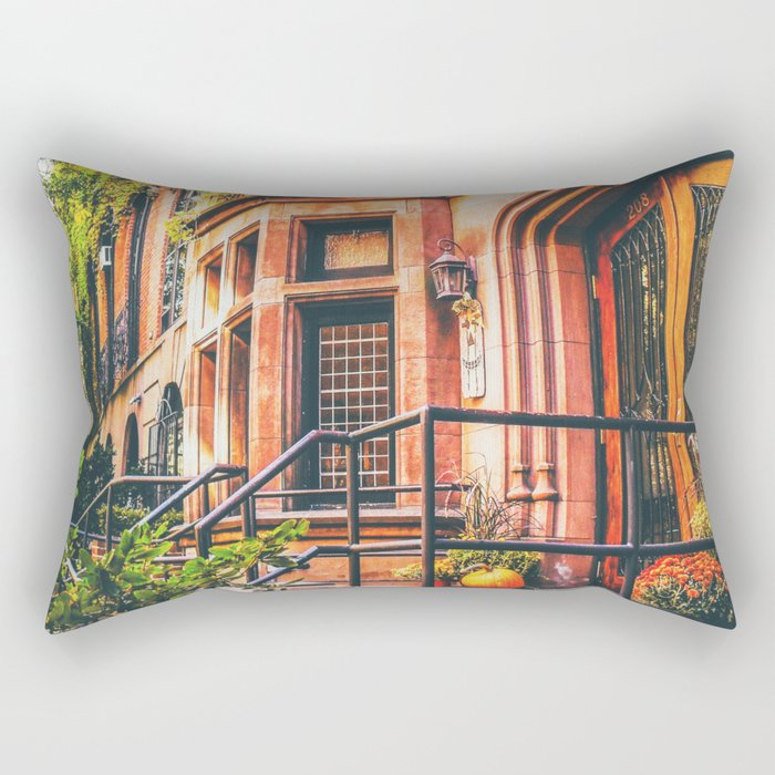 New York City Autumn Pumpkin Rectangular Pillow