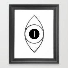EYE of Line Framed Art Print