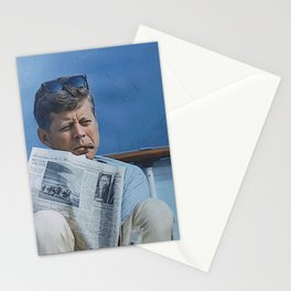 John F. Kennedy Reading Stationery Cards