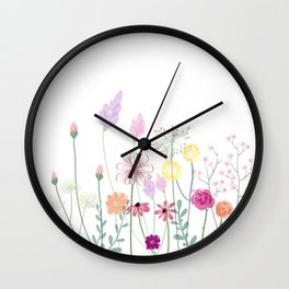 Flowers,plants,botanical art Wall Clock