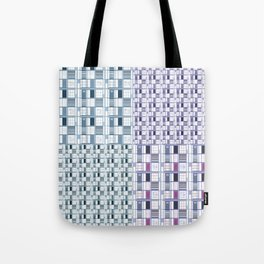 Blues and Grapes in squares Tote Bag