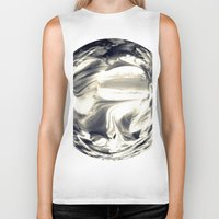 globe Biker Tanks featuring Watercolor Globe by Rose Etiennette