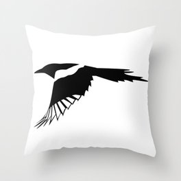 Pica Pica (magpie)  one Galery Giftshop Throw Pillow