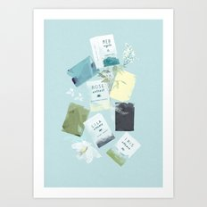 MY BATHROOM - Soaps Art Print