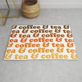 Coffee & Tea Golden Mug Rug