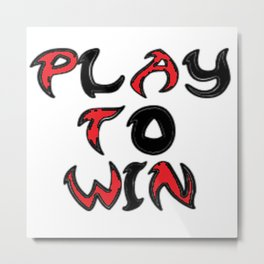 Play To Win Metal Print