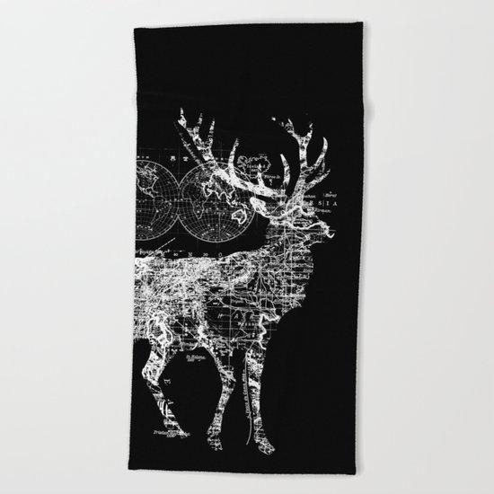 Deer Wanderlust Beach Towel