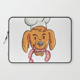 Chef Dog Biting Sausage String Cartoon Color Laptop Sleeve