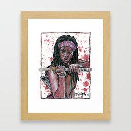 The Walking Dead's Michonne Framed Art Print