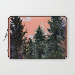 CORAL PINK WESTERN PINE TREES MOUNTAIN LANDSCAPE Laptop Sleeve