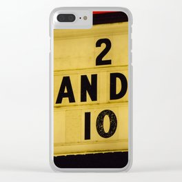 2 can diner Clear iPhone Case