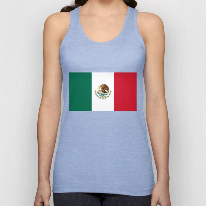 The Mexican national flag - Authentic high quality file Unisex Tank Top
