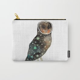 Sparkling Night Black Barn Owl Carry-All Pouch