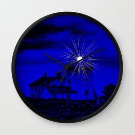 Eerie Cromer Lighthouse Wall Clock