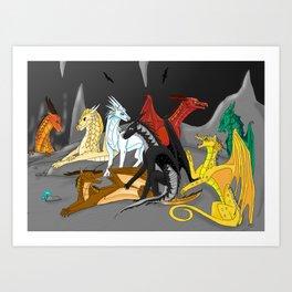 Dragon Wings Of Fire Art Print