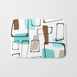 Midcentury Modern Shapes Bath Mat