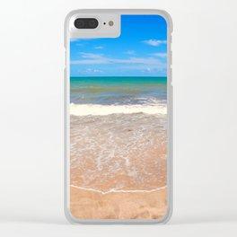 Tropical Ocean Clear iPhone Case