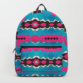 'Zoe's Sister' Tribal-inspired Repeat in Hot Pink and Turquoise Backpack