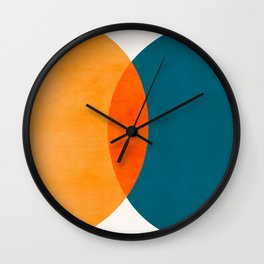 Mid Century Eclipse / Abstract Geometric Wall Clock