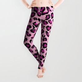 Leopard-Pink+Black+Purple Leggings