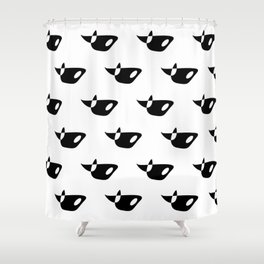 Whale Orca pattern Shower Curtain