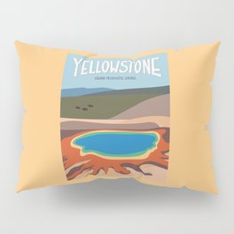 Grand Prismatic Spring, Yellowstone National Park, Wyoming, USA Pillow Sham