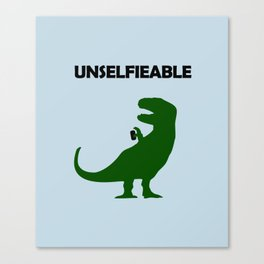 Unselfieable T-Rex Canvas Print