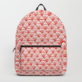 Shell pattern in pink and red Backpack